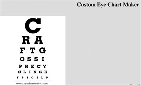 free printable eye chart maker custom eye chart maker web site recycled crafts