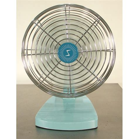 Small Vintage Desk Fan Small Sky Blue 1960s Small Desk Fan