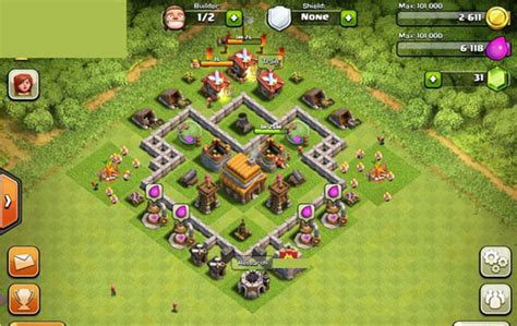 th4 layout clash of clans builder best town hall 4 layouts