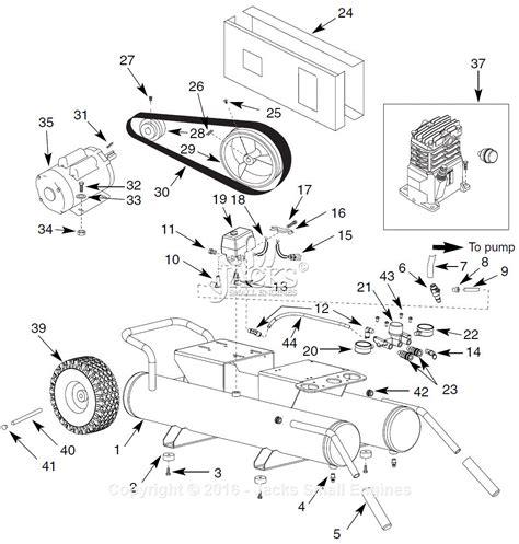 air compressor parts diagram cbell hausfeld ol90150 parts diagram for air compressor