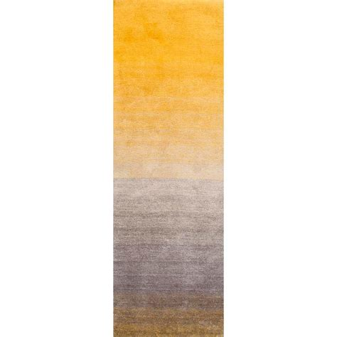 Ombre Runner Rug Nuloom Handmade Ombre Shag Runner Area Rugs 2 6 Quot X 8 Yellow Price Tracking