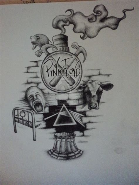 collage tattoo designs my sketch pink floyd collage by mongochild