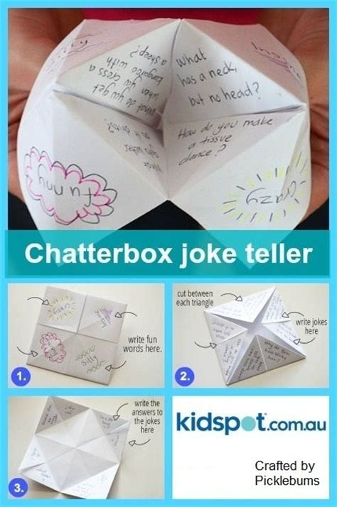 what to write in a paper chatterbox chatterbox joke teller kidspot