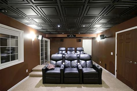 clean lines and deep tones home theater by ceilume