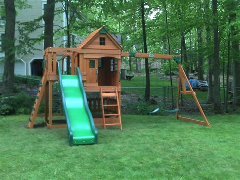 installed swing sets e street assembly backyard discovery installed