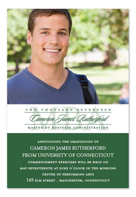 Mba Announcement by Mba Spotlight Grad Graduation Announcements By