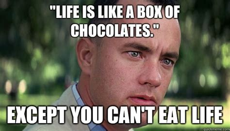 life    box  chocolates    eat
