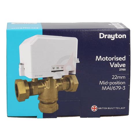 drayton 22mm motorised 3 port mid position valve compass