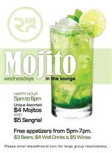 Happy Hour Mojito by Ra Mojito Wednesday Happy Hour At Roe Prive Bar