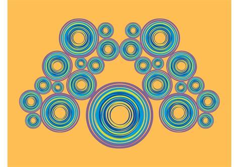 colorful circles layout   vector art stock