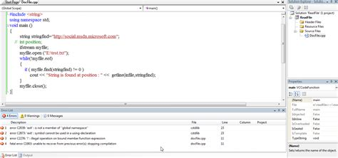 how to find string in text file