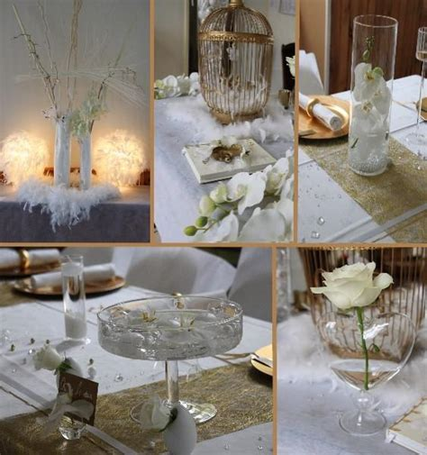 white and gold deco blanc et or mariage