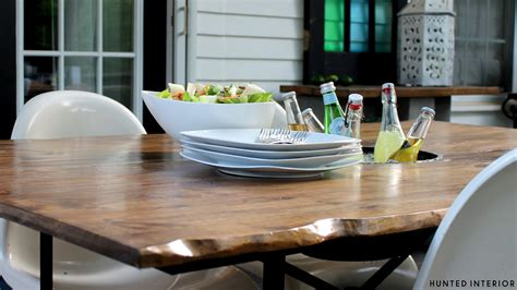 Diy Patio Table Top Turn An Table Base Into A Beautiful Outdoor Wood Table Renocompare
