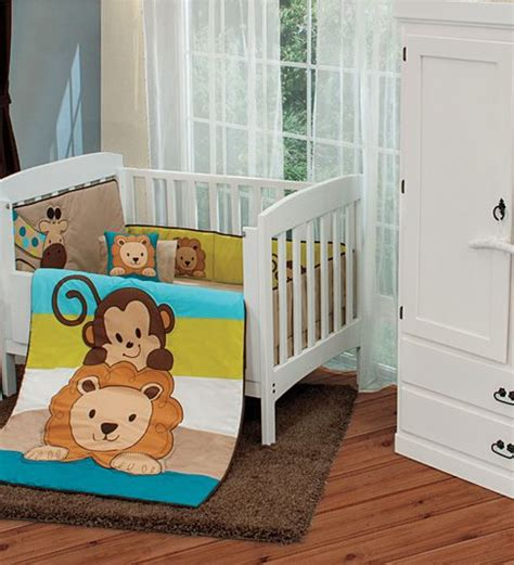 Monkey Crib Bedding For Boys New Baby Boy Monkey Giraffe Baby Friends Crib Bedding Nursery Set 6 Pc Patchwork Babies