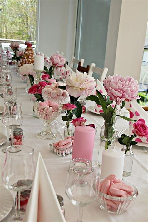 bridal shower dinner table 17 best ideas about pink table settings on pinterest