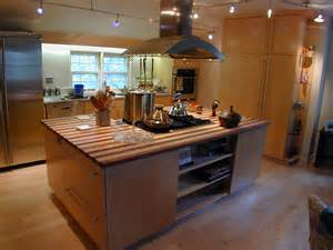 kitchen island with stove top a thoroughly modern kitchen