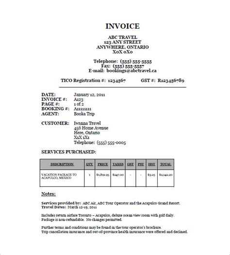 travel travel bill format in word bill receipt reporter resumes