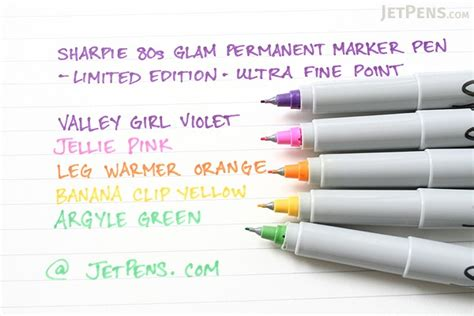 Sharpie Ultra Point 80s Glam Color Set 5 Permanent Markers sharpie 80 s glam permanent marker ultra point