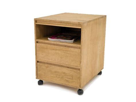 m騁ier de bureau cube sous bureau oscar en bois 2 tiroirs 1 niche