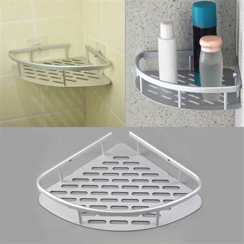 Bath Shower Corner Shelf Wall 1 Pcs Aluminum Shower Wall Mount Corner Shelf Holder
