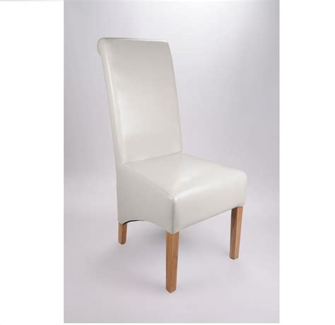 White Leather Dining Chair Krista Bonded Leather White Dining Chair Todaystrends