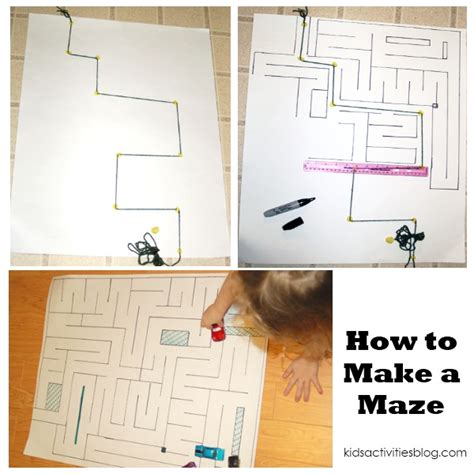 How To Make A Maze On Paper - diy driving car mat how to make a maze