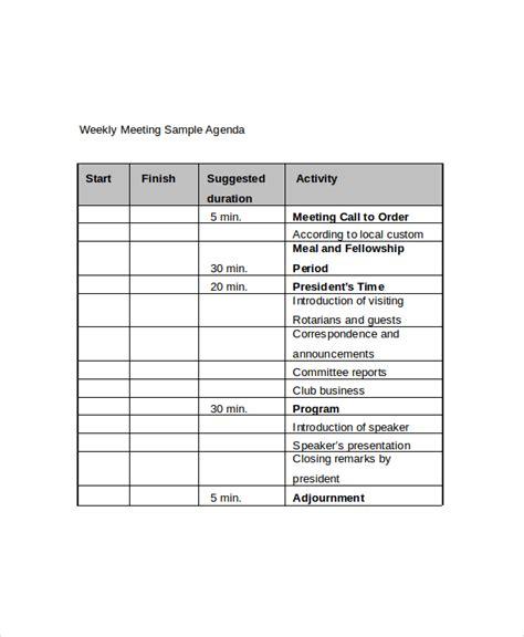 weekly meeting minutes template weekly meeting agenda template 10 free word pdf