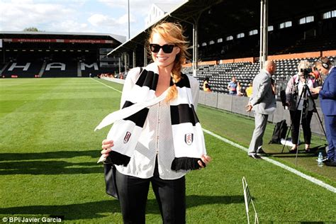margot robbie shows support for fulham as wolf of wall