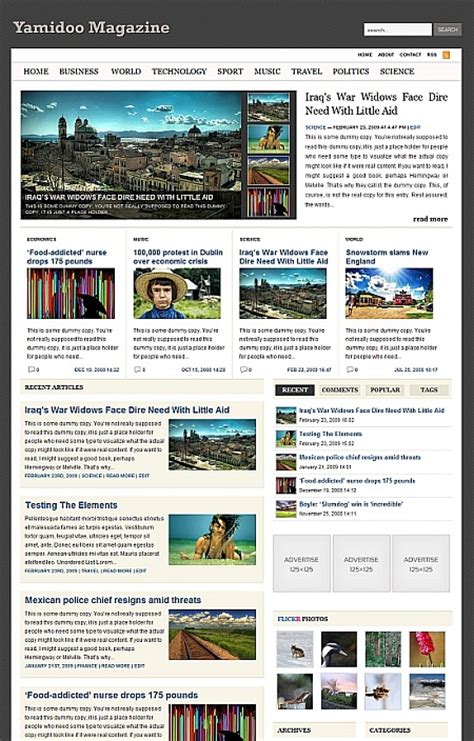 45 free premium wordpress themes with magazine or grid