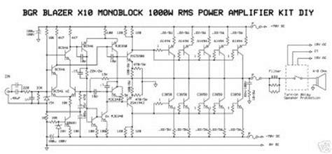 Power Lifier Blazer 1000 Watt Blazer 1000 Watt Power Lifier Circuit Diagram Wiring