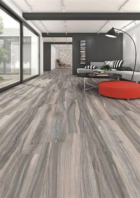flooring porcelain wood grain tiles with long planks for luxury minimalist living room with