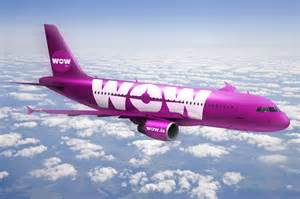 Flight To Low Cost Airline Wow Air Opens Plane Livery