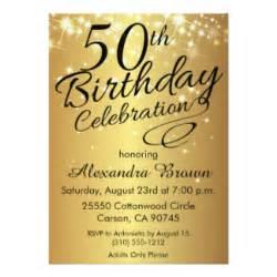 unique 50th birthday invitations announcements zazzle