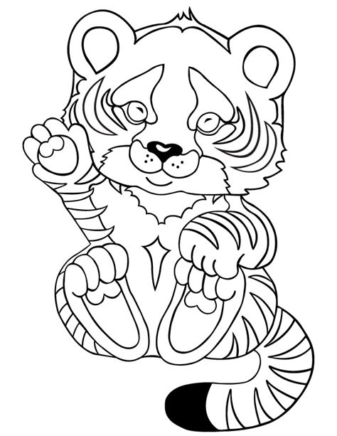 coloring pictures of baby tigers tiger coloring pages for kids printable