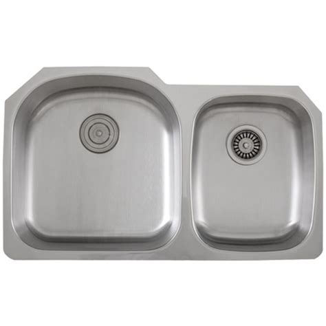 Ticor S105 8 Undermount Stainless Steel Double Bowl Ticor Kitchen Sinks