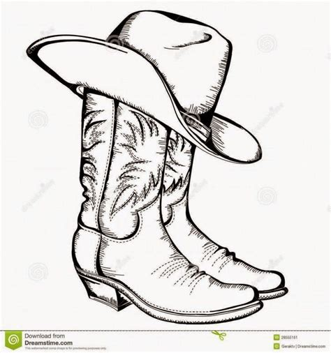 25 Best Ideas About Cowboy Hat Drawing On Pinterest Drawing Of A Cowboy Boot Printable