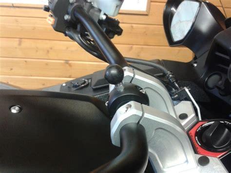 Navi Halterung F R Motorradlenker by Lenkerhalterung In Schwarz Mit Gummieinlagen F 252 R 216 22 25