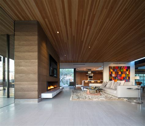 Rammed Earth Fireplace by Rammed Earth Modern Living Room