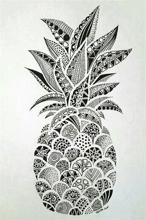 mandala a dibujar let s imagen de wallpaper pineapple and ananas zentangle art