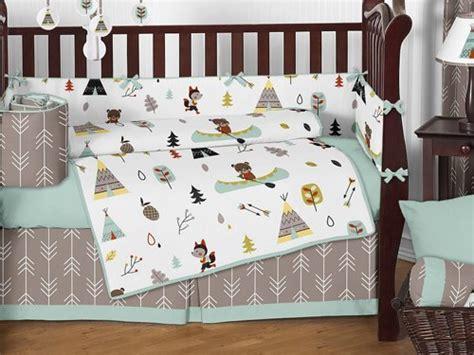 fox crib bedding sweet jojo designs outdoor adventure nature fox bear