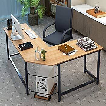 tribesigns modern l shaped desk amazon com tribesigns computer desk 55 quot large office