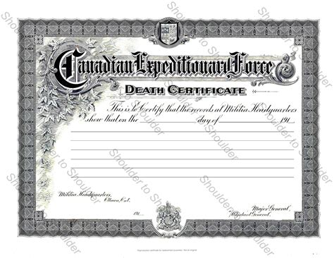 blank death certificates