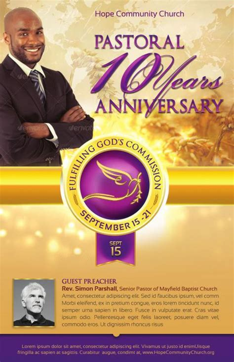 pastor anniversary program templates flipsnack clergy anniversary service program template by