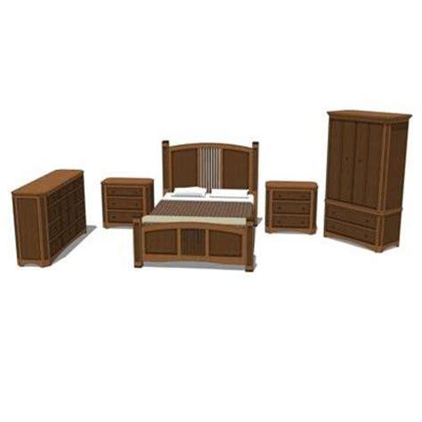 Bed Set Includes Shaker Bedroom Set 3d Model Formfonts 3d Models Textures