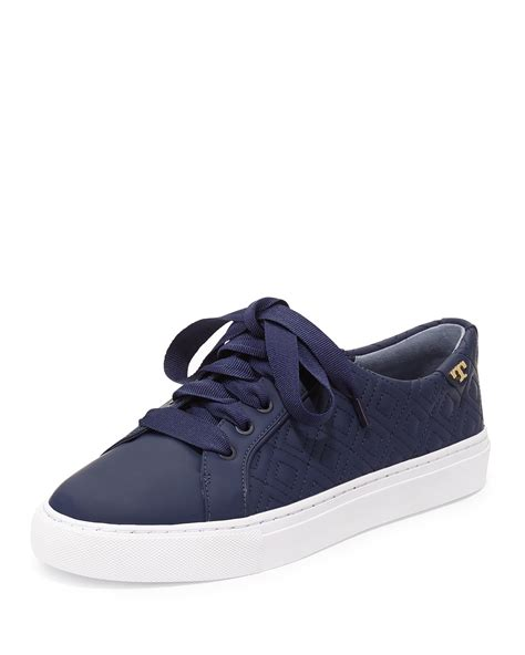 burch sneaker burch marion quilted leather low top sneaker in blue