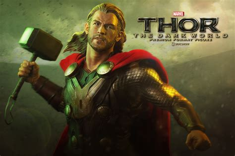 thor the marvel thor the world premium format tm figure by side sideshow collectibles