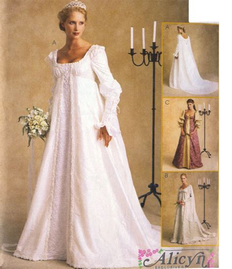 pattern shirt to wedding ever after renaissance bridal wedding gown or costume pattern