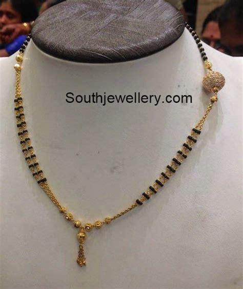 short nallapusalu chain   jewelry beads gold