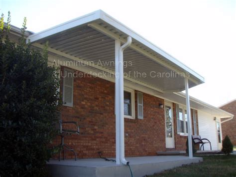 metal awnings for houses aluminum awnings residential deck covers nc sc