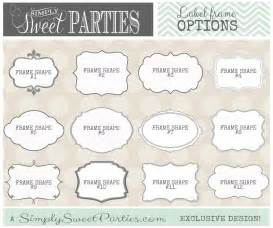 fancy templates for word 6 best images of gold buffet labels free printable